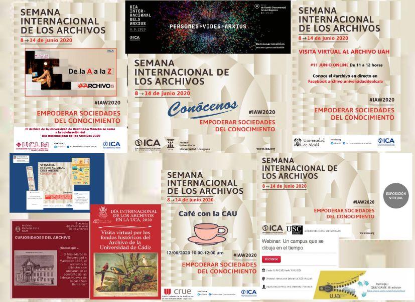 Los archivos universitarios españoles en la Semana Internacional de los Archivos2020